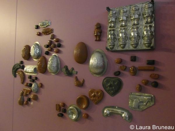 Chocolats et moules au musée du chocolat à Paris
